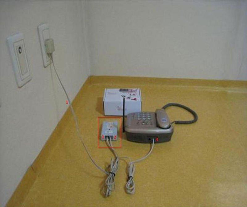 Adaptador de teléfono para llamadas por Internet