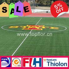 Fireproof U-shape artificial soccer grass for sports macth