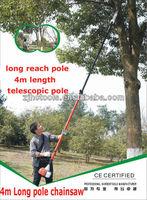 4m Long Reach Telescopic Pruner Chainsaw with 26cc 35cc 43cc engine