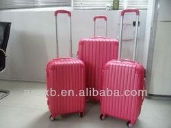ABS hot sale pink corner series travel trolley hard shell drawbar luggage