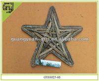 Christmas wreath star shaped natural rattan garland