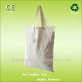 2015 eco- amigável natureza 5oz tamanho padrão sacola de algodão