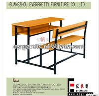 School study desk and chair/university Student desk and bench/college school table and chair set,School furniture