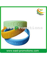 2013 thin cheap sport silk printed silicone wristband with costom
