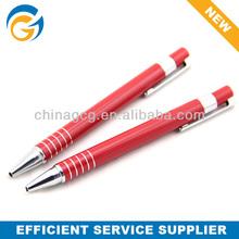 Five Circles Red Barrel Metal Ball Pen