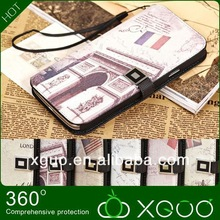 Trending hot products 2013 lichee pattern pu housing manufacturer best brands mobile phone leather case