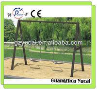 Outdoor steel garden swing