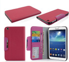 PU slot leather cover for Samsung galaxy Tab3 T310 8.0 i