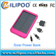 Emergency Solar panel power supply, 5000 mah power bank for iPhone4