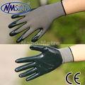 NMSAFETY Guantes de mano para pulido de nitrilo verde oscuro