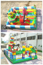 2014 Hot sale commercial grade PVC Tarpaulin brand new FU051 inflatable fun city for kids