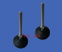 Plastic adjustable leveling feet, articulated feet, table leveling legs