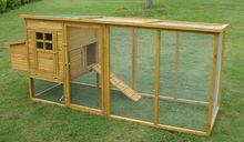 Wooden chicken coop with big run
