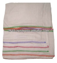 100% Cotton Unbleach Twill Prefold Cloth Nappies For Babies