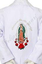 btc11 bambino bianco ragazzo bambino abiti da cerimonia battesimo battesimo cerimonia ricamo jacquard Guadalupe 5pc tuta tuxedo 2t 3t 4t