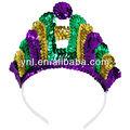 Mardi gras crown_shaped tiara de lantejoulas/mg cabeça decoração