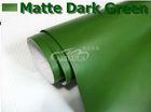 Car vinyl wrap Matte dark green vinyl wrap with air free bubbles