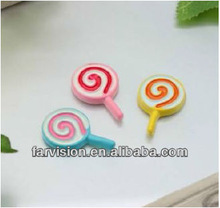Best Selling! Multicolor Lollipop Flat back Resin Beads, Fashion Resin Cabochon, Mini Resin Craft!