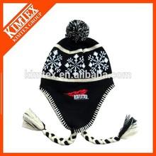Jacquard mens winter hat fashion
