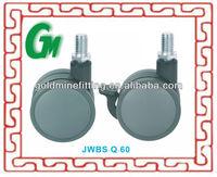 JWBS60 60mm swivel PP furniture light duty caster wheel