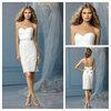 Free Shipping Sweetheart Lace Bridal Girl Dress Beach Sexy Short Wedding Dresses