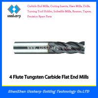 4 Flute High Quality Carbide Square End Mill HRC65/ Carbide Endmill 6 mm