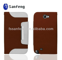2013 New Cell phone covers and cases for Samsung N7100/Galaxy Note 2 leather case