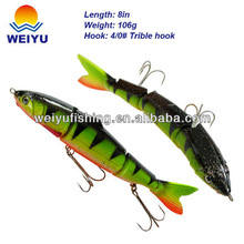 multisection hard plastic fishing lure