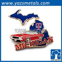 customize classic embossed pins, custom tmobile michigan pin