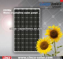 250W Mono crystalline solar panel for 1000 watt solar panel