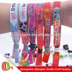 Hot sale fabric colorful friendship neoprene wristband
