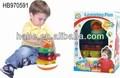 De plástico de pollo jenga juego con la música de luz& infantil jugueteseducativos seguro para los bebés de venta caliente
