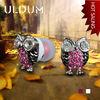 ULDUM 2013 diamond owl-shaped in-ear metal earphone with mic