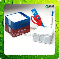 Desktop Plastic Memo holder with memo pad