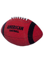 American Football ball with laces
