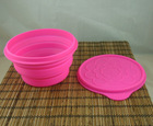 FDA and LFGB collapsible silicone bowls for dog