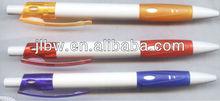 regular ball pen for pirnting logos white plastic ball pen