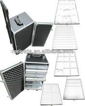 aluminum trolley jewelry box for salesman