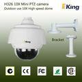resistente al agua ip 10x mini tamaño pelco cámara cctv ptz de alta velocidad cámara domo ip