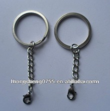 Fashionable Metal Key Rings Connected With Metal Chain