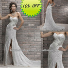 Hot Sale Sweetheart Lace Appliqued Corset Sexy Front Slit Wedding Dresses