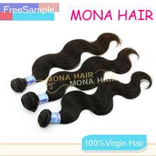 Very smooth wavy cheap 100% brazilian virgin hair thai hair