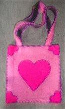 Heart Shape felt bag