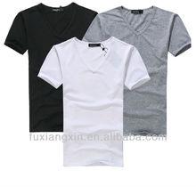 comfortable short sleeve v neck men t shirt