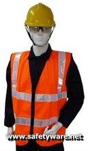 Safety Vest, Polyester High Visibility Safety Vest, Polyester High Visibility Safety Vest (Orange)
