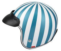 stripe mens visor open face helmet