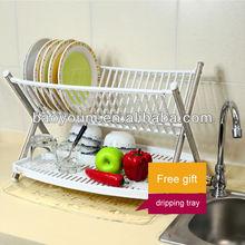 BONUNION kitchen draining trays stainless steel plate rack kitchen plate shelf 0935