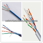 Free Sample Cat6 UTP Bulk LAN Cable, 23AWG, PVC/PE Jacket, 250MHz Frequency