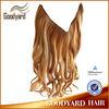 Wholesale cheap kanekalon synthetic Flip in hair extension