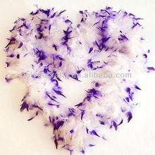 Wedding Decoration Purple & White Feather Boa
